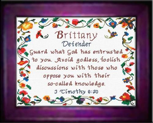 First Additional product image for - Name Blessings - Brittany - Chart