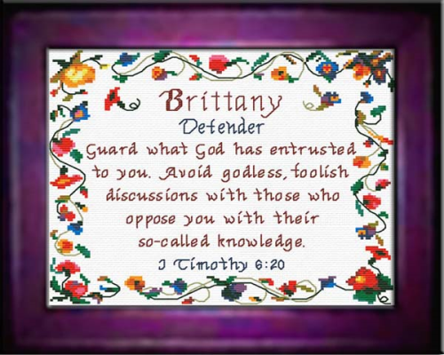 Second Additional product image for - Name Blessings - Brittany - Chart