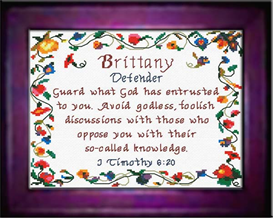 Name Blessings - Brittany - Chart | Crafting | Cross-Stitch | Other