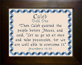 Name Blessing - Caleb 2 | Crafting | Cross-Stitch | Other
