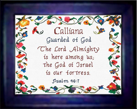 Name Blessings - Calliana - Chart | Crafting | Cross-Stitch | Religious