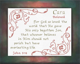 Name Blessings - Cara | Crafting | Cross-Stitch | Religious