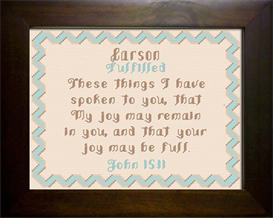 Name Blessing - Carson | Crafting | Cross-Stitch | Other
