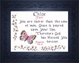 Name Blessing - Chloe   Crafting   Cross-Stitch   Religious