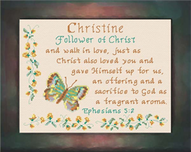 Name Blessings - Christine | Crafting | Cross-Stitch | Religious