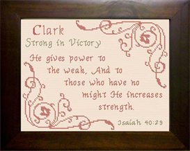 Name Blessings - Clark   Crafting   Cross-Stitch   Religious
