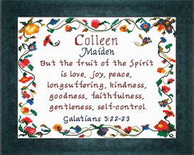 Name Blessings - Colleen | Crafting | Cross-Stitch | Religious