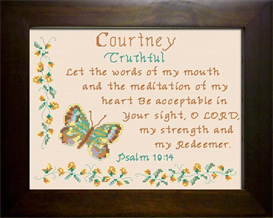 Name Blessing - Courtney 2 | Crafting | Cross-Stitch | Religious