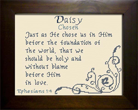 Name Blessing - Daisy | Crafting | Cross-Stitch | Religious
