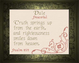 Name Blessings - Dale | Crafting | Cross-Stitch | Religious