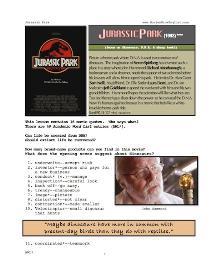 JURASSIC PARK, Whole-Movie English (ESL) Lesson | eBooks | Education