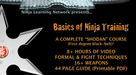 Basics of Ninja Training - Ninjutsu Bujinkan BLACK BELT COURSE JUST THE VIDEOS - DEVICES MP4-H264 | Movies and Videos | Sports
