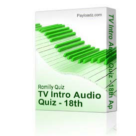 TV Intro Audio Quiz - 18th April 2010 | Music | Instrumental