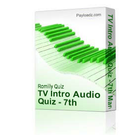 TV Intro Audio Quiz - 7th March 2010 | Music | Instrumental