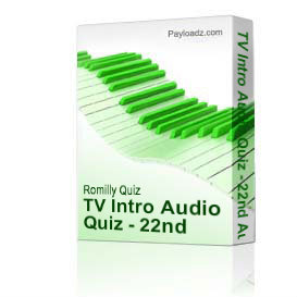 tv intro audio quiz - 22nd august 2010