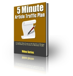 5 Minute Article Traffic Plan - Video Series