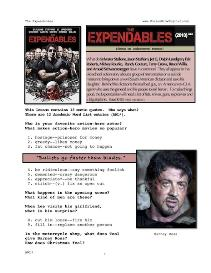 EXPENDABLES, Whole-Movie English (ESL)  Lesson | eBooks | Education