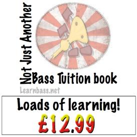 not just another bass tuition book!
