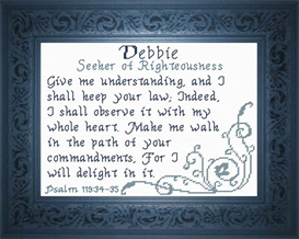 Name Blessings - Debbie | Crafting | Cross-Stitch | Religious