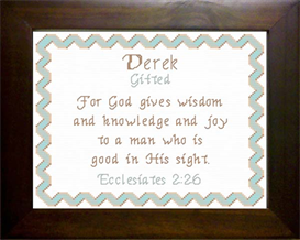 Name Blessing - Derek | Crafting | Cross-Stitch | Religious