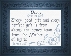 Name Blessings - Devin | Crafting | Cross-Stitch | Other