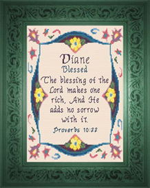 Name Blessings - Diane | Crafting | Cross-Stitch | Religious