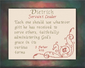 Name Blessings - Dietrich | Crafting | Cross-Stitch | Religious
