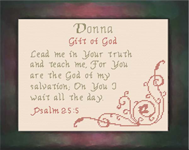 Name Blessing - Donna | Crafting | Cross-Stitch | Religious