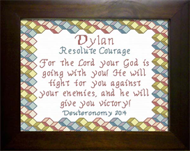 Name Blessing - Dylan 2 | Crafting | Cross-Stitch | Religious