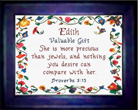 Name Blessings - Edith - Chart | Crafting | Cross-Stitch | Religious