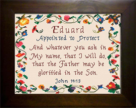 Name Blessing - Eduard | Crafting | Cross-Stitch | Religious