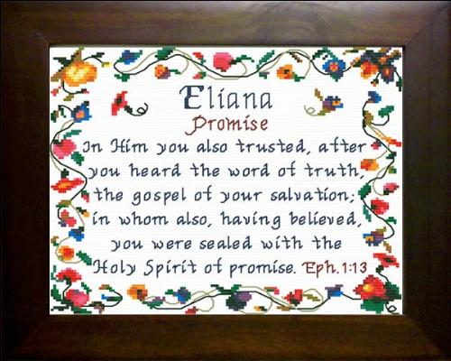 First Additional product image for - Name Blessings - Eliana