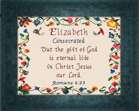 Name Blessings - Elizabeth | Crafting | Cross-Stitch | Religious