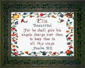 Name Blessings - Ella | Crafting | Cross-Stitch | Religious
