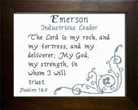 Name Blessings - Emerson | Crafting | Cross-Stitch | Religious