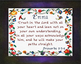 Name Blessings - Emma2 | Crafting | Cross-Stitch | Religious