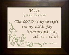 Name Blessing - Evan | Crafting | Cross-Stitch | Religious
