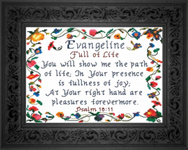Name Blessing - Evangeline | Crafting | Cross-Stitch | Religious