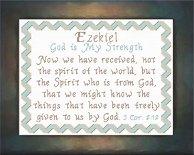 Name Blessings - Ezekiel | Crafting | Cross-Stitch | Religious