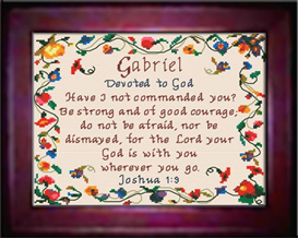 Name Blessings - Gabriel - Chart | Crafting | Cross-Stitch | Religious