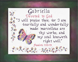 Name Blessings - Gabriella | Crafting | Cross-Stitch | Religious
