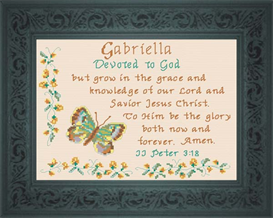 Name Blessing - Gabriella 2 | Crafting | Cross-Stitch | Religious