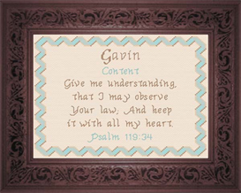 Name Blessings - Gavin | Crafting | Cross-Stitch | Religious