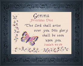 Name Blessing - Gemma | Crafting | Cross-Stitch | Religious