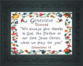 Name Blessing - Genevieve | Crafting | Cross-Stitch | Religious