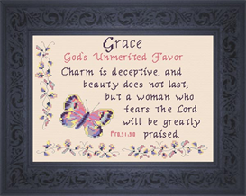 Name Blessing - Grace | Crafting | Cross-Stitch | Religious