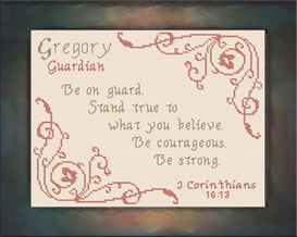 Name Blessings - Gregory | Crafting | Cross-Stitch | Religious