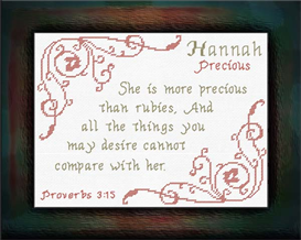 Name Blessings - Hannah | Crafting | Cross-Stitch | Other