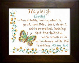 Name Blessing - Hayleigh | Crafting | Cross-Stitch | Religious