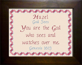 Name Blessing - Hazel | Crafting | Cross-Stitch | Religious